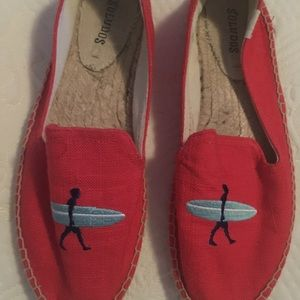 Soludos red with surfer espadrilles 9